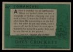 1956 Topps Davy Crockett Green Back #46   Comanche!  Back Thumbnail