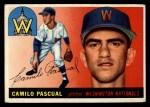 1955 Topps #84  Camilo Pascual  Front Thumbnail