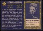 1953 Topps Who-Z-At Star #71  Richard Anderson  Back Thumbnail