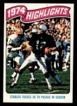 1975 Topps #458   -  Ken Stabler  Highlights Front Thumbnail