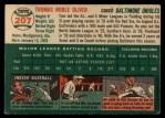 1954 Topps #207  Tom Oliver  Back Thumbnail