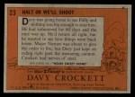 1956 Topps Davy Crockett #23   Halt or We'll Shoot  Back Thumbnail