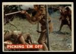 1956 Topps Davy Crockett Orange Back #19   Picking 'Em Off  Front Thumbnail