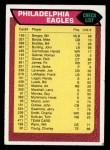 1976 Topps #471   Eagles Team Checklist Front Thumbnail