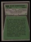 1975 Topps #35  Dan Dierdorf  Back Thumbnail