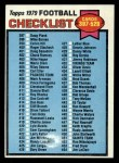 1979 Topps #486   Checklist 397-528 Front Thumbnail