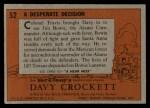 1956 Topps Davy Crockett #52   Desperate Decision  Back Thumbnail
