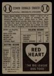 1954 Red Heart  Duke Snider     Back Thumbnail