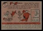 1958 Topps #365  Tom Morgan  Back Thumbnail