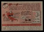 1958 Topps #214  Willard Schmidt  Back Thumbnail