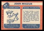 1968 Topps #93  John Miszuk  Back Thumbnail