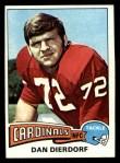 1975 Topps #35  Dan Dierdorf  Front Thumbnail