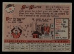1958 Topps #98 YN Billy Hunter  Back Thumbnail