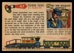 1955 Topps Rails & Sails #47   Forney Locomotive Back Thumbnail
