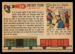 1955 Topps Rails & Sails #34   Rotary Snow Plow Back Thumbnail