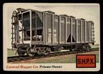 1955 Topps Rails & Sails #2   Covered Hopper Car Front Thumbnail