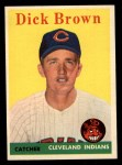 1958 Topps #456  Dick Brown  Front Thumbnail