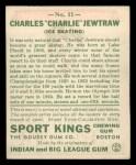 1933 Goudey Sport Kings #11  Charles Jewtraw   Back Thumbnail
