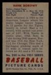 1951 Bowman #250  Hank Borowy  Back Thumbnail