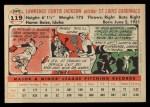 1956 Topps #119 WHT Larry Jackson  Back Thumbnail