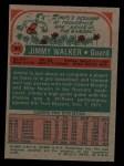 1973 Topps #61  Jimmy Walker  Back Thumbnail