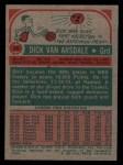 1973 Topps #25  Dick Van Arsdale  Back Thumbnail
