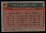 1973 Topps #67   NBA Western Finals Back Thumbnail