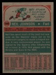 1973 Topps #188  Neil Johnson  Back Thumbnail