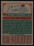 1973 Topps #254  Donnie Freeman  Back Thumbnail