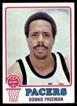 1973 Topps #254  Donnie Freeman  Front Thumbnail