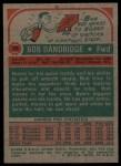 1973 Topps #33  Bob Dandridge  Back Thumbnail