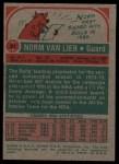1973 Topps #31  Norm Van Lier  Back Thumbnail