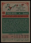 1973 Topps #91  Fred Boyd  Back Thumbnail