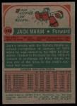 1973 Topps #122  Jack Marin  Back Thumbnail