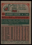 1973 Topps #124  Johnny Green  Back Thumbnail