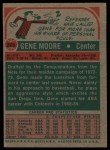 1973 Topps #223  Gene Moore  Back Thumbnail