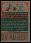 1973 Topps #193  Red Robbins  Back Thumbnail