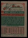 1973 Topps #118  Walt Wesley  Back Thumbnail