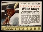 1961 Post #145 BOX Willie Mays   Front Thumbnail