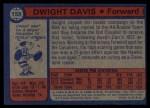 1974 Topps #158  Dwight Davis  Back Thumbnail