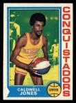 1974 Topps #187  Caldwell Jones  Front Thumbnail
