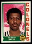 1974 Topps #237  Wilbert Jones  Front Thumbnail