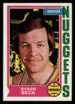 1974 Topps #264  Byron Beck  Front Thumbnail
