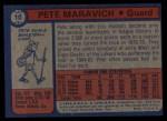 1974 Topps #10  Pete Maravich  Back Thumbnail