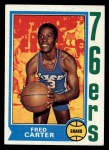 1974 Topps #75  Fred Carter  Front Thumbnail