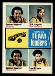1974 Topps #97   -  Dick Snyder / Spencer Haywood / Fred Brown Supersonics Leaders Front Thumbnail
