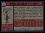1974 Topps #127  Mike Newlin  Back Thumbnail