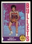 1974 Topps #143  Walt Wesley  Front Thumbnail
