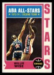 1974 Topps #185  Willie Wise  Front Thumbnail