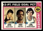 1974 Topps #208   -  Tom Owens / James Jones / Swen Nater ABA Field Goal % Leaders Front Thumbnail